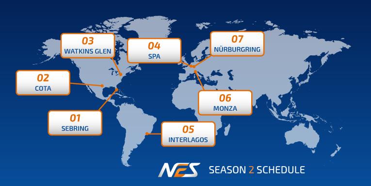 NEO Endurance Series season 2 schedule unveiled