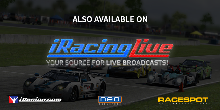 iRacing Live to broadcast NEO Endurance Series