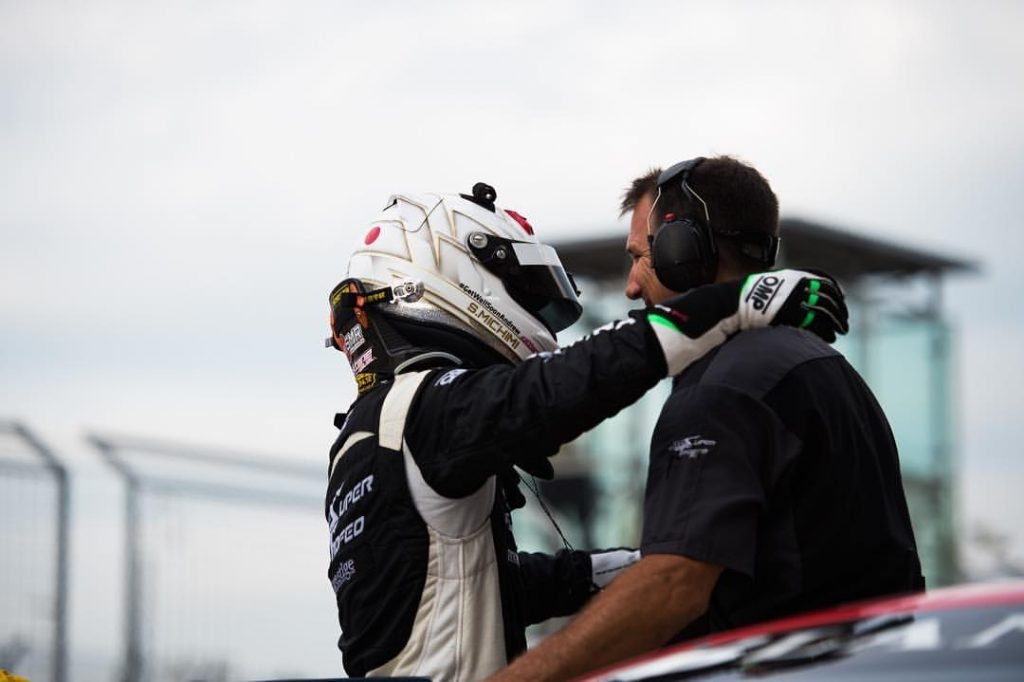 Shinya Michimi clinching the title at COTA